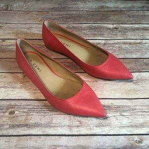 M. Gemi Pointed Toe Flats, Coral